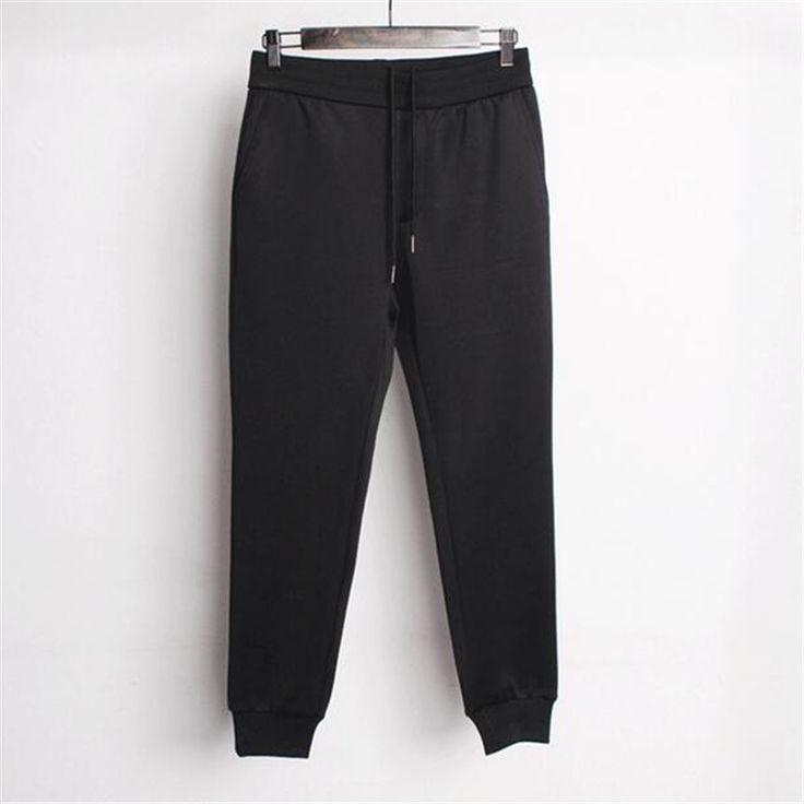 Best Quality Harem Pant Men Elastic Waist Casual Outwear Sweatpant Space Cotton Thick Joggers Plus Size M-XXL Jogger Pants Man