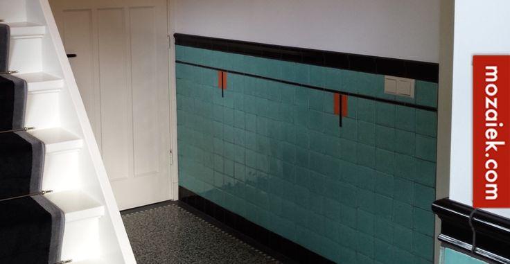poolster jaren 30 woning hilversum tegels van mozaiek.com op vloer en wand