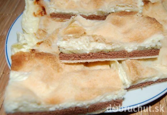 Fotorecept: Tvarohovo-pudingový koláč