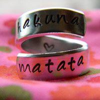 hakuna matata ring ♥ i want this!