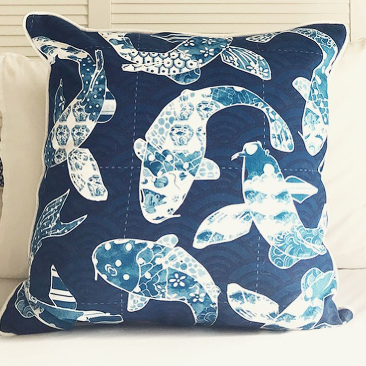 """159 Likes, 5 Comments - Michelle Grayson (@sproutgallery) on Instagram: """"My little Koi Fish cushion. The pattern within the fish are swatches from other paintings etc."""""""