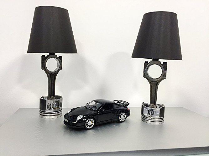 Kolben Pleuel Lampe 12 V E14 4W LED Design Tischlampe:  Handmade