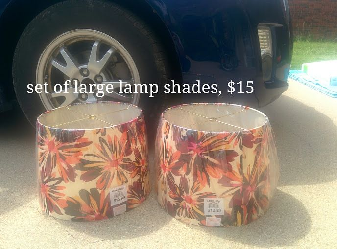 Large Lamp Shades in BuyAllTheThings' Yard Sale in Copperas Cove , TX for $15.00. Large Lamp Shades, Floral Design