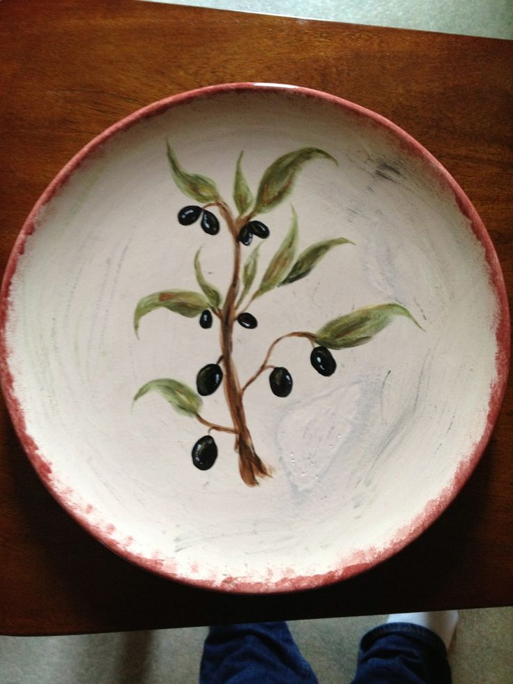 Painted Pottery & 791 best Dinner Plate Decorations! images on Pinterest | Pottery ...