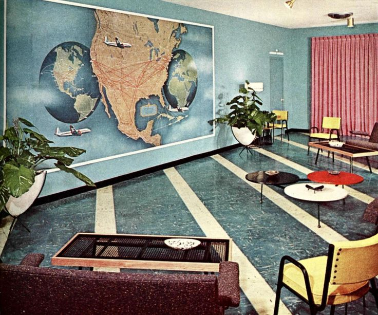 Superior Midcenturia: U201c American Airlines Waiting Room, San Antonio Municipal  Airport, Via U201d. Find This Pin And More On Mid Century Modern ...