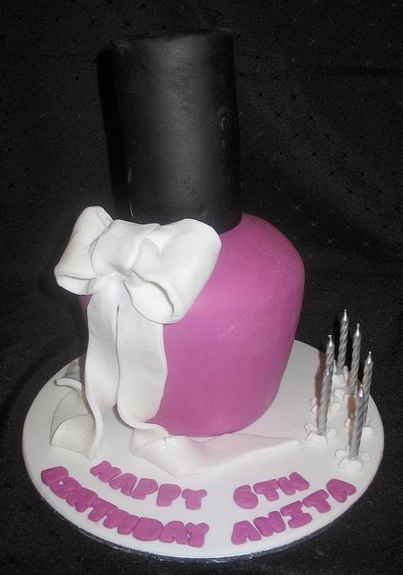 nail polish designer cake. love