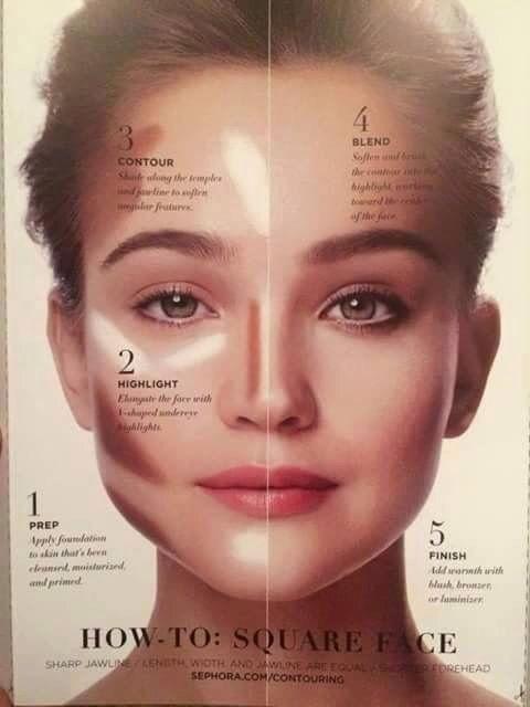face shape contour and make up image beauty hair pinterest makeup anleitung makeup. Black Bedroom Furniture Sets. Home Design Ideas