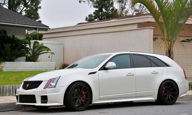 CTS-V  Oh fuck yes. Rear wheel drive wagon with a corvette engine, giant alloys and big red brakes.  I can haz?