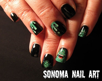 I dunno, I think it'd be pretty neat to have Slimer on your nails : p