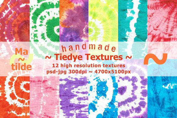 Tiedye textures by Matilde on Creative Market