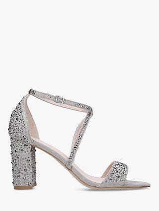 397ad770c26 BuyCarvela Loyalty Suedette Stud Embellished Block Heeled Sandals ...