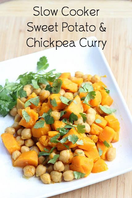 A delicious, hearty, and filling vegetarian dish that is also freezer friendly: Sweet Potato Chickpea Curry Recipe | 5DollarDinners.com
