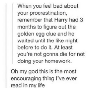 Because that's what Harry Potter would do and he is an inspiration to us all. | 25 Things Everyone Does While Procrastinating