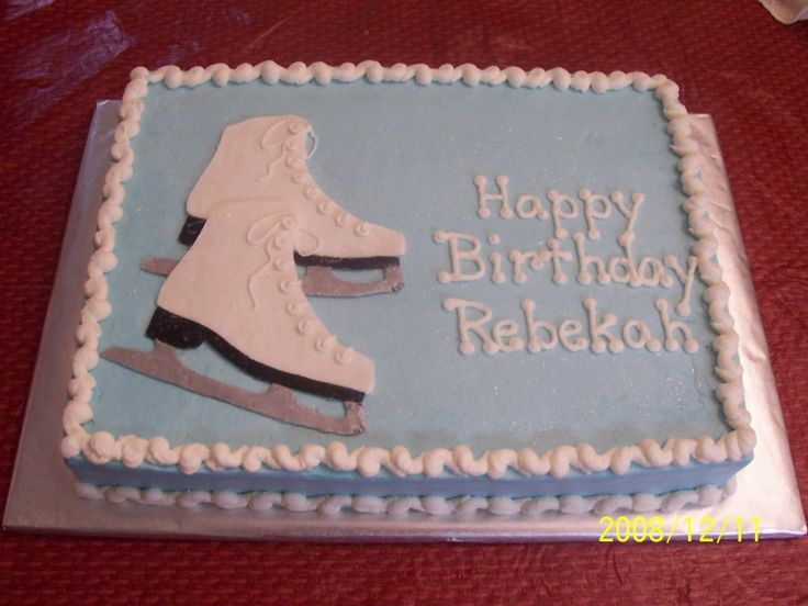 Ice Skating Party Cake