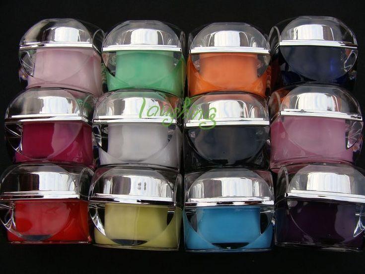 Уф-гель 12 цвет ногтей являются Твердые цветные уф гель лак для ногтей устанавливает строителей цветные уф-гель #5