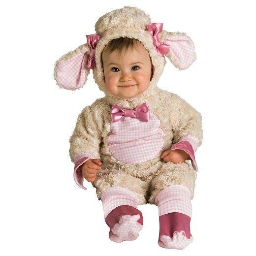 Girls' Pink Lamb Baby Costume - 6-12 M : Target