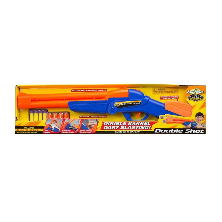 Air Warriors Over Under Double Shot Blaster by Buzz Bee, Multicolor