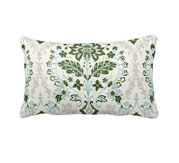 DESIGN, TEXTILE, CRAFTSMANSHIP & CARE This pillow cover features a artichoke green, juniper green, ecru taupe and white printed fabric that that is continuous on both front and back with an envelope closure. All RFS pillow covers are handcrafted in the United States and made with 100% cotton duck. To care for your pillow cover wash in cold water, using a gentle detergent (Woolite)..  SIZING Please remember that sizes listed denote the pillow form size, not the size of the pillow cover. To…