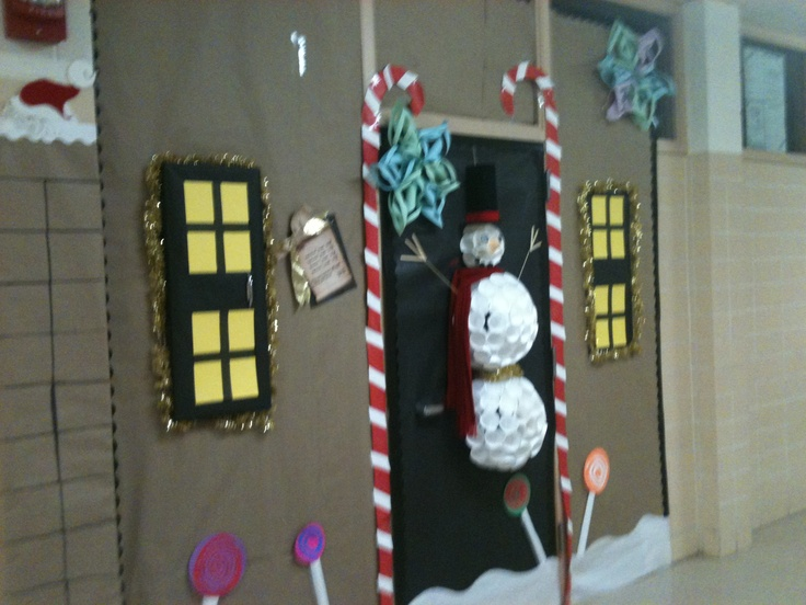school doors. Classroom Door Decoration For Christmas Or Winter Time. School Doors