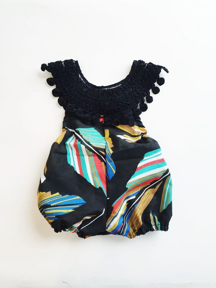 Summer Feathers Romper