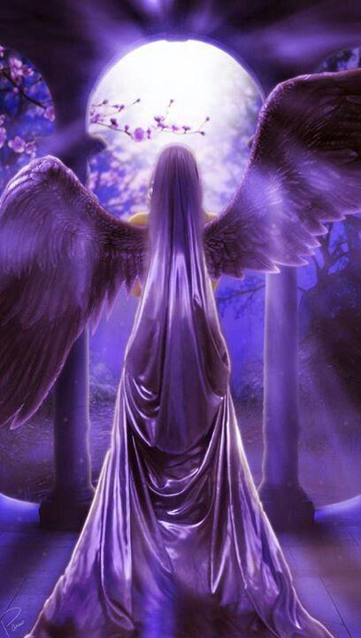 Purple Angel | Angels | Pinterest | Angel, Purple and Angel art