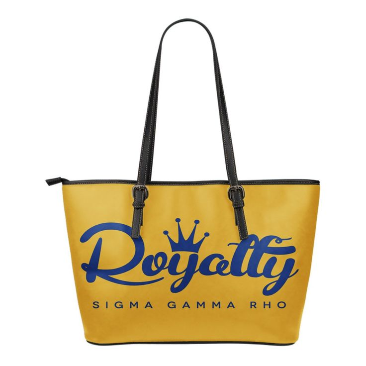 Sigma Gamma Rho Small Leather Tote