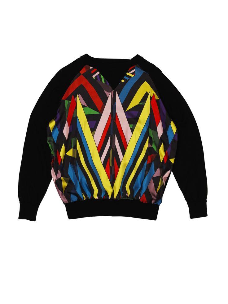 David David silk panel sweater http://daviddavid.bigcartel.com/