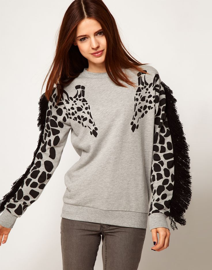 Everyone needs a giraffe shirt - cute and comfy-looking.
