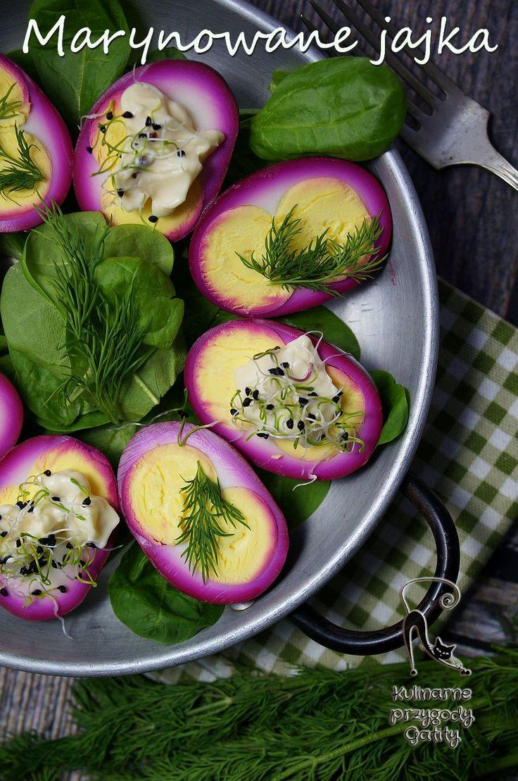 Marynowane jajka, inspiracje na Wielkanoc, menu na Wielkanoc,