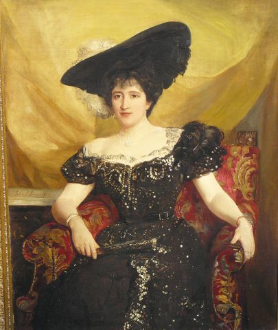 Jenny Jerome, Mother Of Winston Churchill, Was An American From An Affluent Brooklyn Family Who Married British Born Randolph Churchill And Had Two Sons - by John Singer Sargent   c.1890's