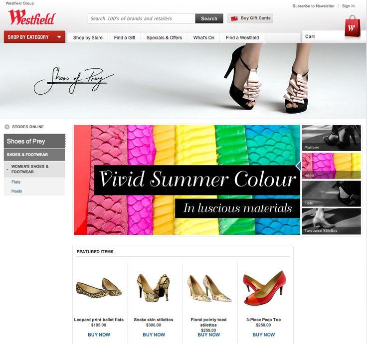 Westfield shopping mall web design 2011