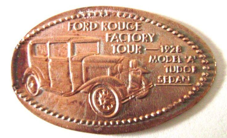 Elongated Penny 1928 Model A TUDOR  SEDAN - THE HENRY FORD MUSEUM - MI - Retired