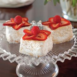 Angel Food Cakes... Light and airy, these delicate cakes are perfect alongside a cup of your favorite tea. ...