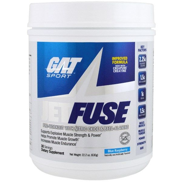 GAT, Jetfuse Pre-Workout, Blue Raspberry, 22.2 oz (63 g)