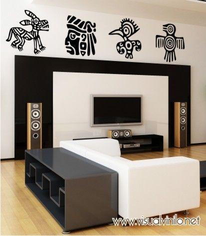 Vinilo Decorativo étnico, visita nuestra tienda online y conoce los más de 100 modelos que componen esta colección de adhesivos p para pared. http://www.visualvinilo.net/vinilos-decorativos/vinilos-decorativos-etnico/
