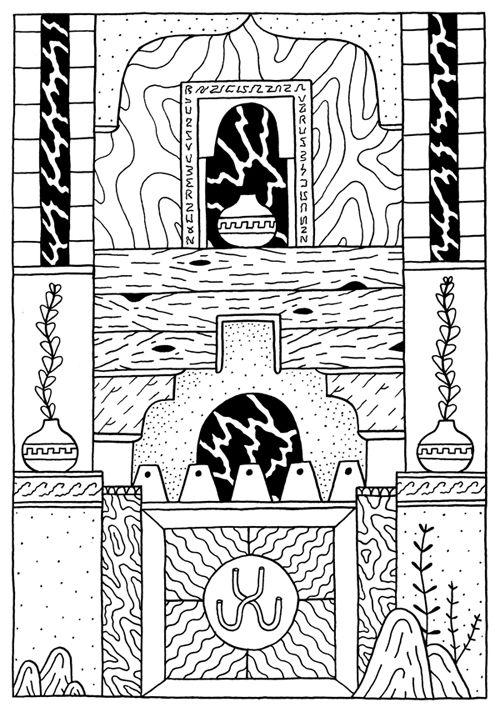 Dominic Kesterton, strukturer, mönster, bilda abstrakta mosaiker