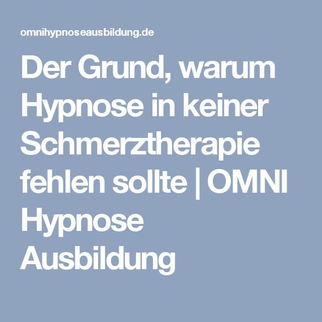 Der Grund, warum Hypnose in keiner Schmerztherapie fehlen sollte | OMNI Hypnose Ausbildung