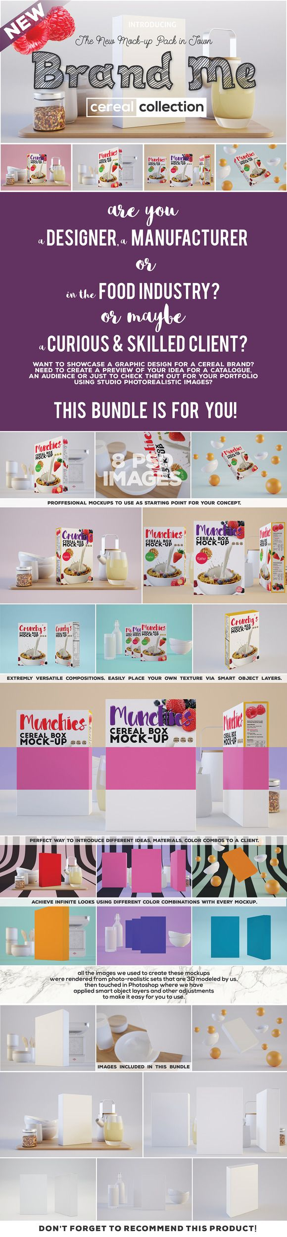 Brand Me - Cereal Mock-up Collection by Northern Kraft on @creativemarket