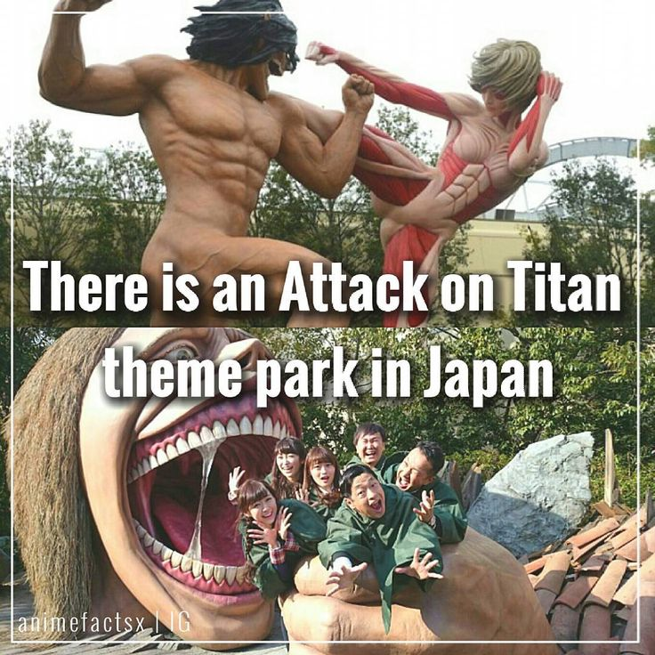 """7,780 Likes, 820 Comments - Anime Facts  (@animefactsx) on Instagram: """"Universal Studios in Japan has constructed an Attack on Titan experience that allows guests to…"""""""