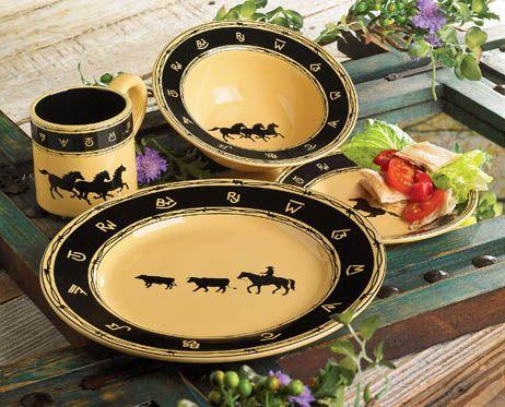 Western Decor Western Furniture u0026 Cowboy Decor & 151 best Western Dinnerware images on Pinterest | Dinner ware ...