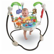 Q: Are there any good baby jumpers, swings and other play things? Everything I see is hideous, plastic and gaudy. Where are the green, modern, and minimal baby things? Why must we settle for products like these (shown)? Sent by Jeff