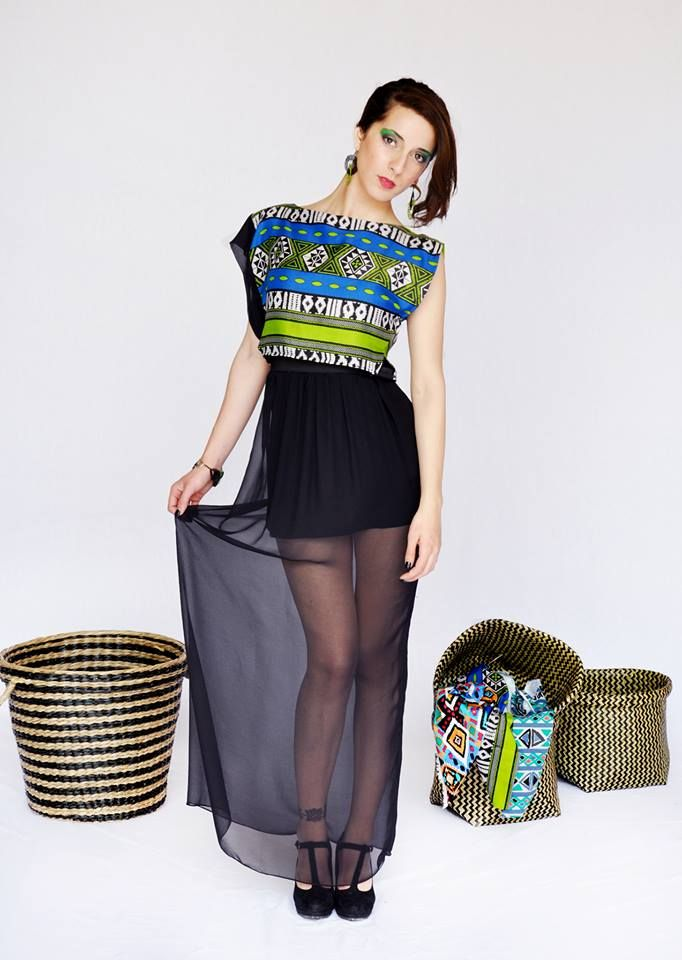 fashion#african#print#black#chiffon#greenandblue#transparent#