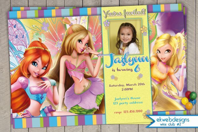 Winx Club Birthday Invitations - Fairy Invitation