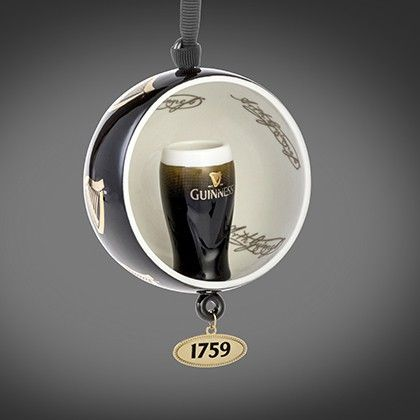 Guinness Newbridge Open Globe Pint Hanging Christmas Tree Decoration