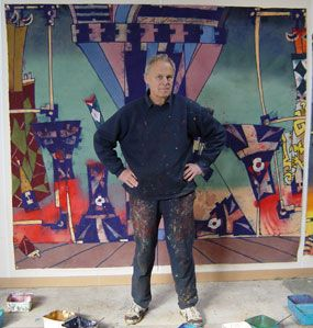 Philip Trusttum - one of NZ's great living artists.  Lucky enough to have grown up with two of his paintings.  Great credit that he still paints with such strength, despite having lost a studio full of work in the Christchurch earthquakes!