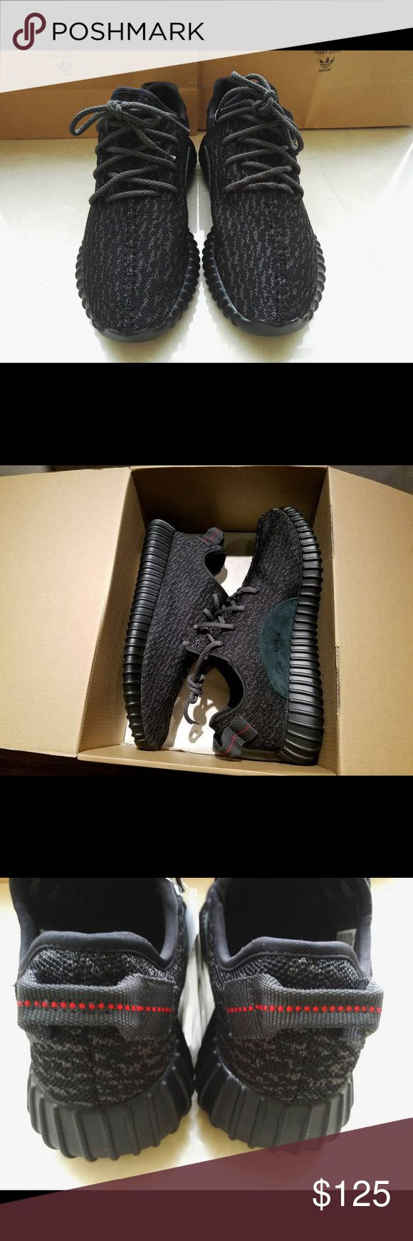 NEW Adidas Yeezy Boost 350 Pirate Black Men Up for sale brand New Adidas Yeezy Boost 350 Pirate Black Shoes are US men size 7, 10, 11, and 11.5 Real photos of the shoes With Box is $5 extra I am located at Villa Siena Apartments in Irvine, California, 92612 Text me at (31O)-625-1732, my name is Ari Price is firm $125 each Shoes are of best quality, very light weight, and well stitched, identical to original ***UNAUTHORIZED AUTHENTIC*** Additional Question, shoot me a text. I reply pretty…