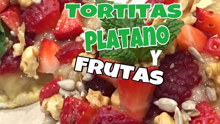 Tortitas de platano y frutas veganas y sin gluten - YouTube