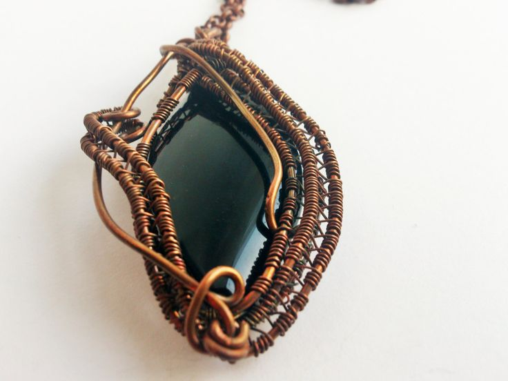 "wire wrapped pendant, with agate, natural gemstone, copper wire, wire wrapping, by SHINE. ""ELEGANCE"" Magic Pendant - pinned by pin4etsy.com"