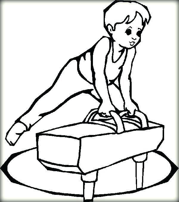 Charming Gymnastics Coloring Sheets Image Little Boy Gymnastic