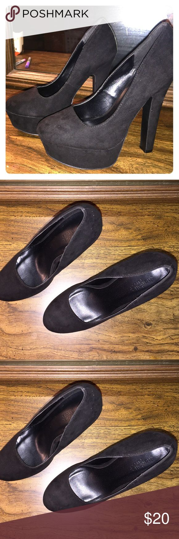 Charlotte Russe Heels Black Charlotte Russe heels only worn once for about an hour!!! Size 8. Send your offers. Charlotte Russe Shoes Heels